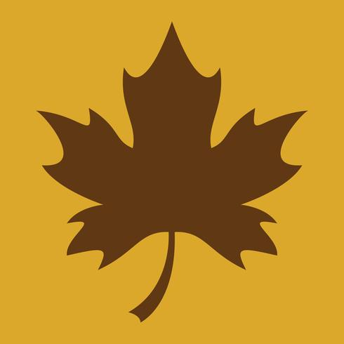 otoño vector de hoja de arce logo