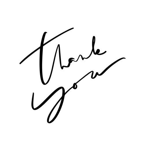 Kalligrafie belettering Vectortekst Bedankt. Geïsoleerd op witte achtergrond Hand getekend vintage illustratie voor bruiloft, wenskaart, tag
