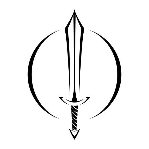 Icone De Dessin Anime De Metal Epee Vector Telecharger Vectoriel