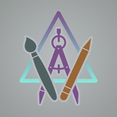 Kunst creatieve ontwikkeling pictogram.