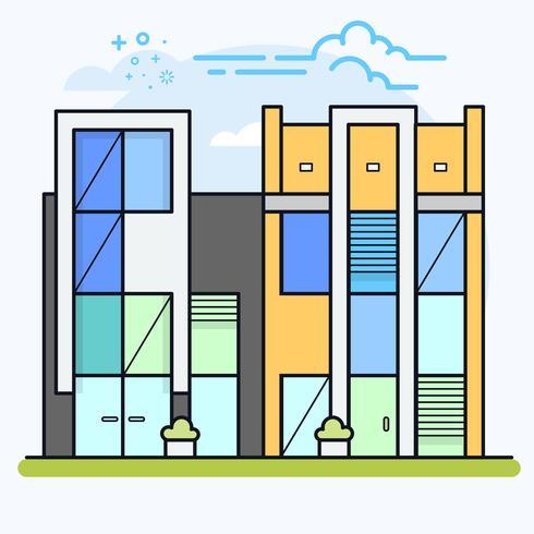 Andelslägenhet eller kontorsbyggnader.