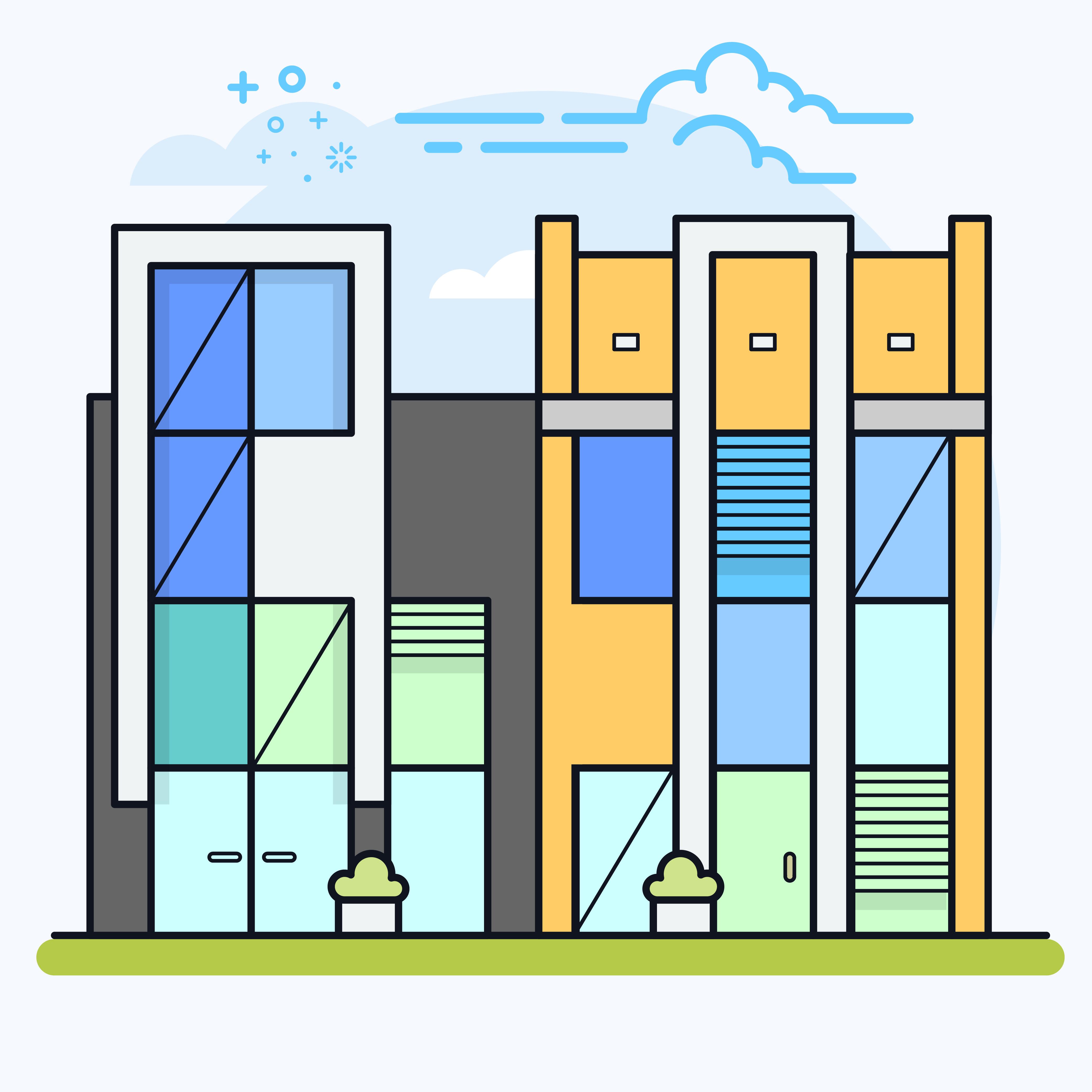 Condominium Apartment: Condominium Apartment Or Office Buildings.