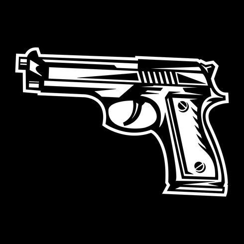 Waffe-Vektor-Symbol