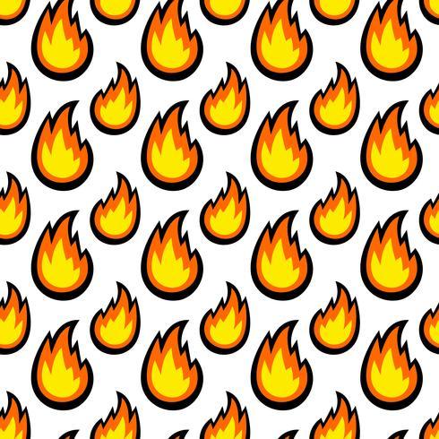 Dibujos animados de vector de bola de fuego de llama caliente