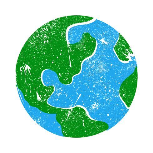 Grafico del pianeta terra globo