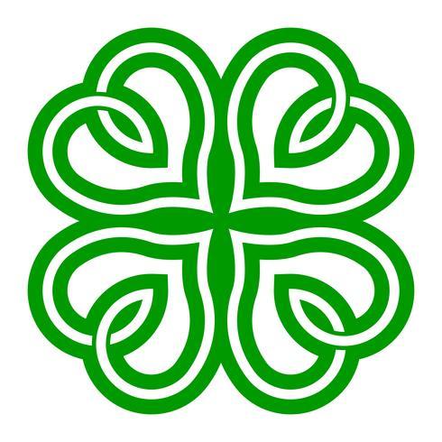 Trèfle irlandais chanceux pour la Saint-Patrick