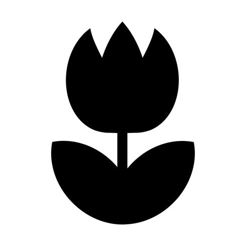 Tulip Flower Vector Icon