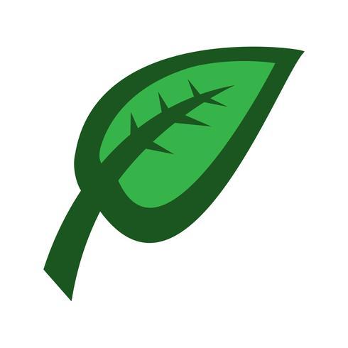 Grön blad vektorikonen
