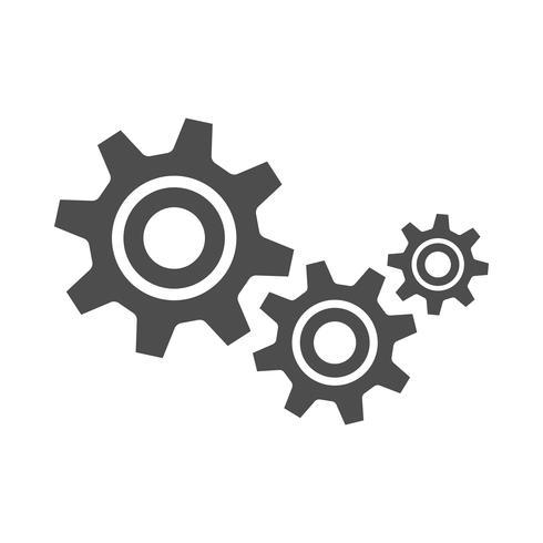 Icono de Vector de engranajes