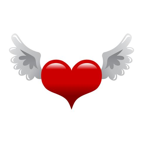 Hjärtvingar vektor illustration
