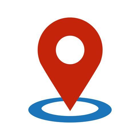 Icône de vecteur Pin emplacement géographique