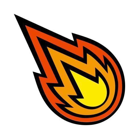 Hot Flame Fireball vektortecknad film