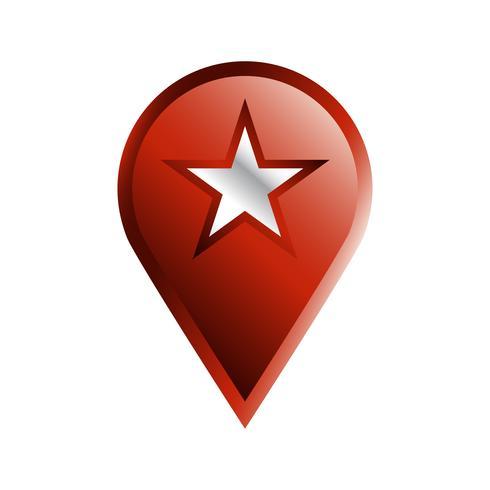 Geo Plats Pin vektor ikon