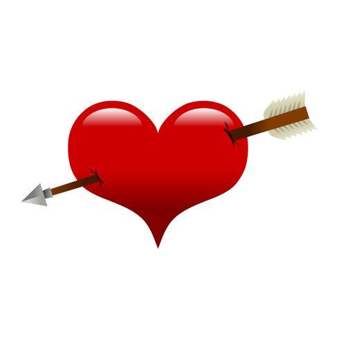 Heart Arrow Romantic Love afbeelding