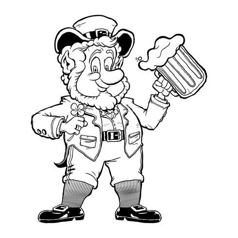 Leprechaun tecknad vektor illustration