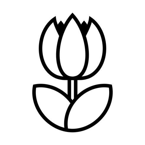 Tulip Flower Vector Icon