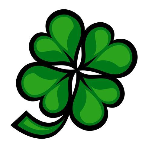 Lucky Irish Clover para el día de San Patricio