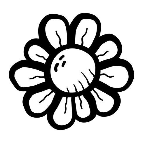 Flor de dibujos animados