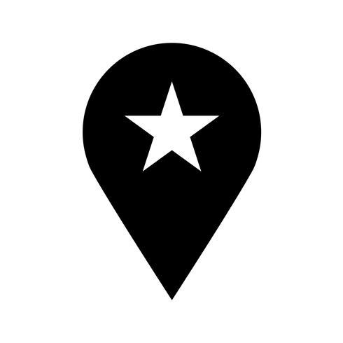 Icona di vettore di posizione geo pin