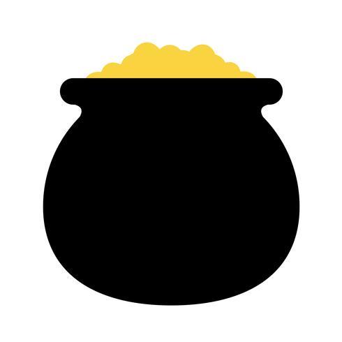 Pentola d'oro icona vettoriale