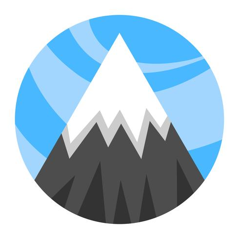 Bergketen vector pictogram
