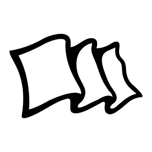 Fahnenschwenkende Vektor Icon