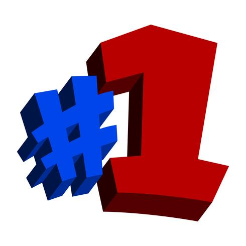#1 Number One Logo Text Graphic