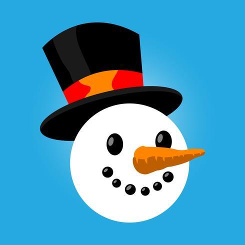 Illustrazione di vettore del fumetto del pupazzo di neve