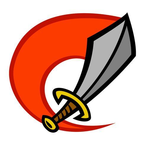 Metal Sword vector cartoon icon