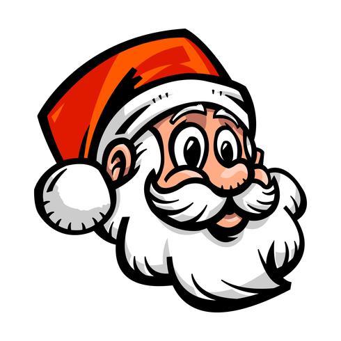illustrazione vettoriale di faccia Babbo Natale