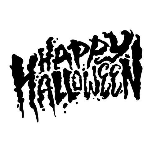 Felice lettering di progettazione del testo di Halloween