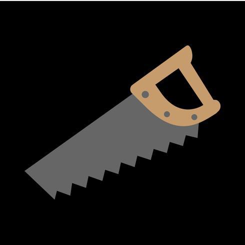 Handsägenbauwerkzeug für das Schneiden des Holzes. Cartoon-Abbildung