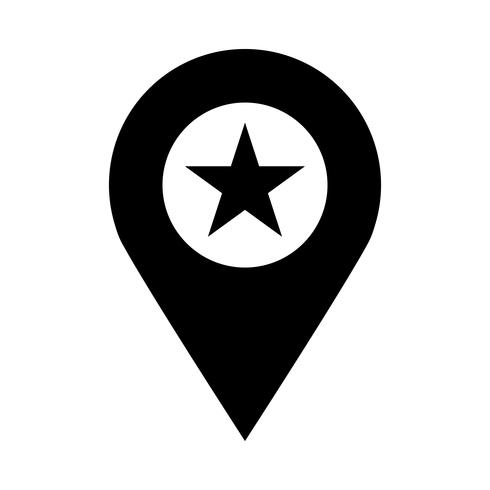 Ícone de vetor de localização geográfica