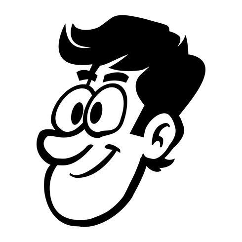 Man hoofd cartoon vectorillustratie