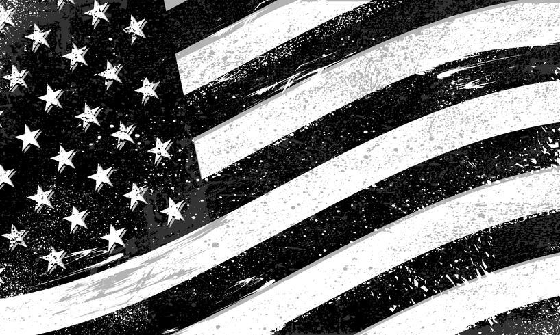 Drapeau des États-Unis d'Amérique avec texture en détresse grunge rugueuse vecteur