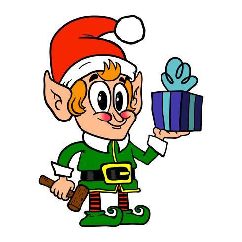Lindo elfo de navidad
