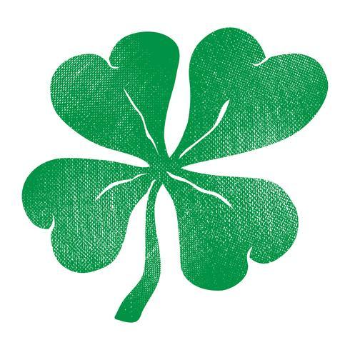 Lucky Irish Clover för St Patrick's Day vektor