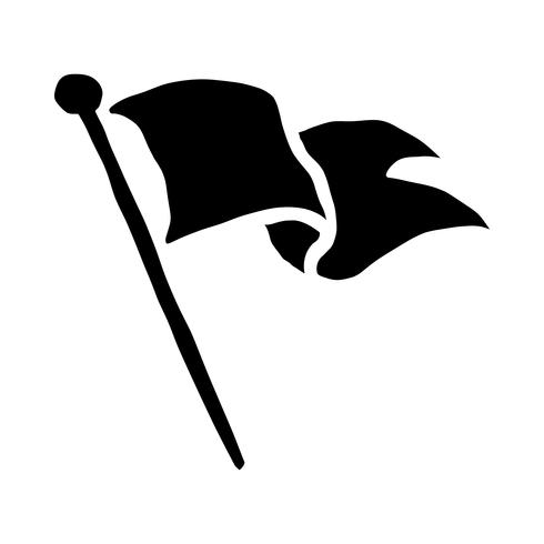Icona di vettore d'ondeggiamento di bandiera