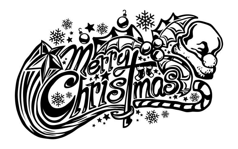 Buon Natale testo carattere grafico