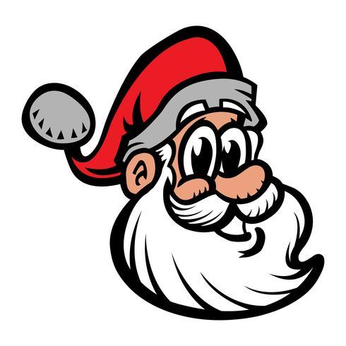 Santa Claus Face Vector Illustration