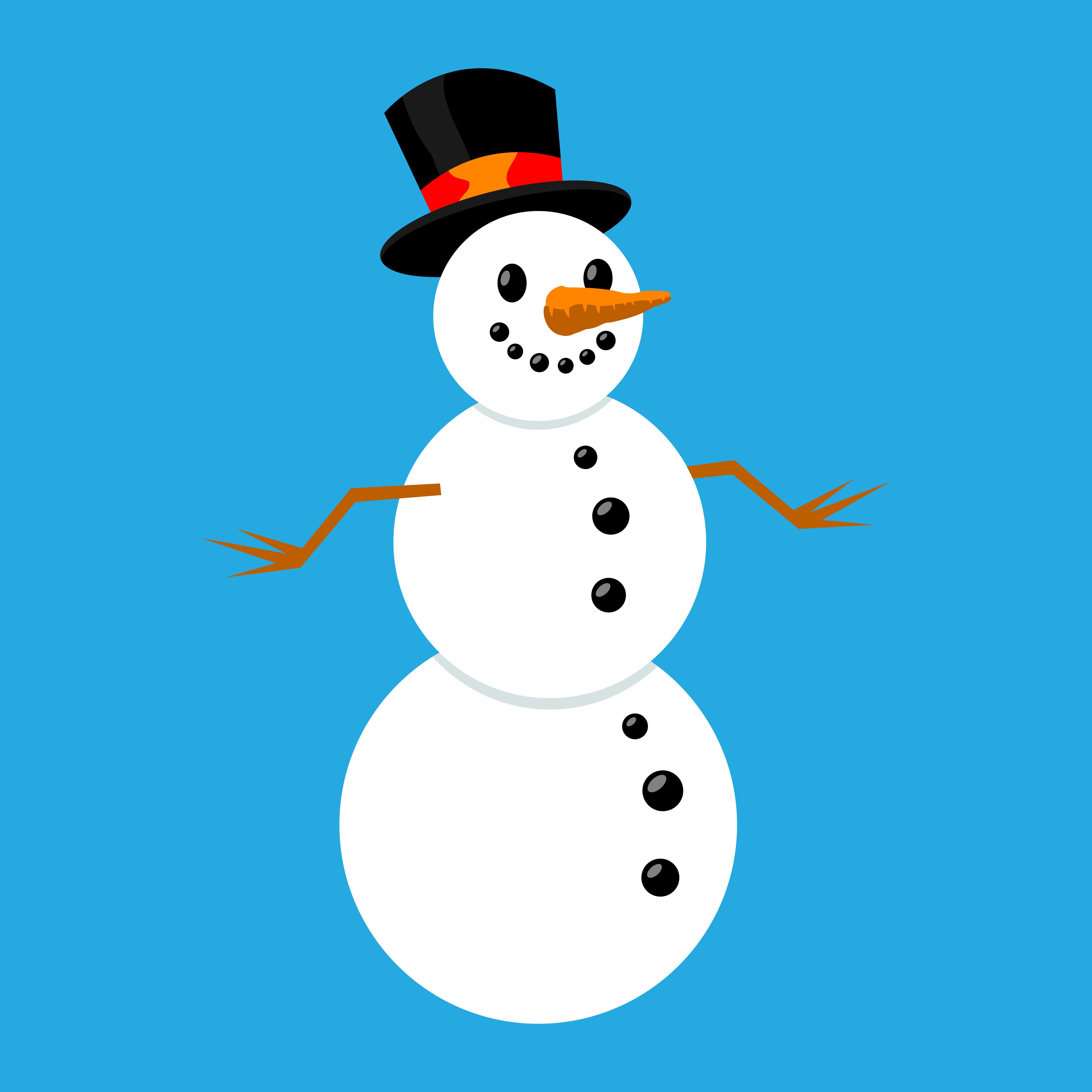 snowman cartoon vector illustration