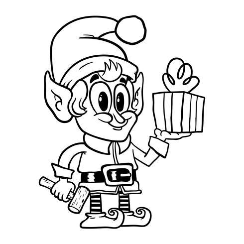 Carino elfo di Natale
