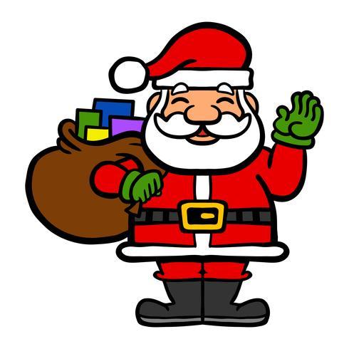 illustration vectorielle de père Noël visage