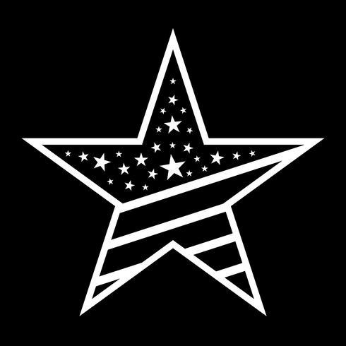 Amerika stjärna vektor ikon