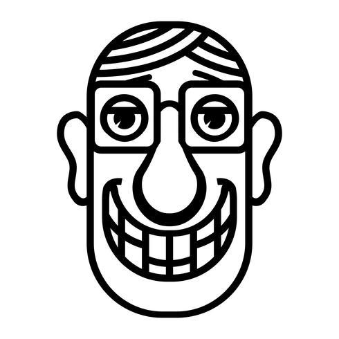 Illustrazione di vettore del fumetto testa uomo