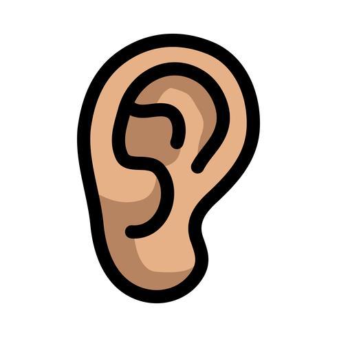 Icono de vector de oreja