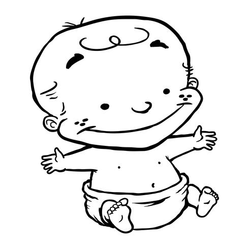 Baby Child Fumetto del bambino