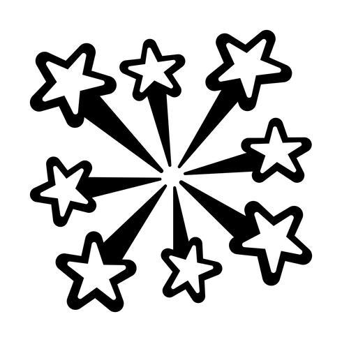 Explodierende Feuerwerkslogo-Vektorikone vektor