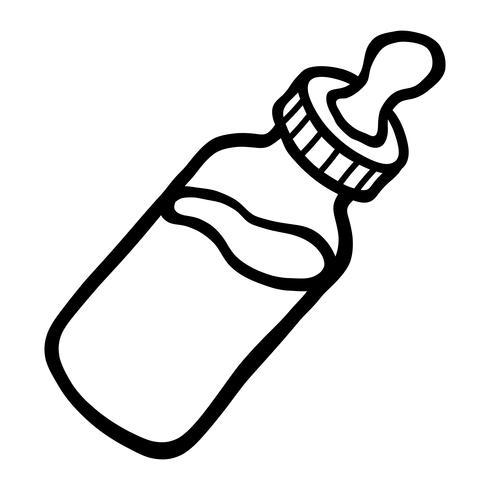 Icône de vecteur de bébé bouteille de lait
