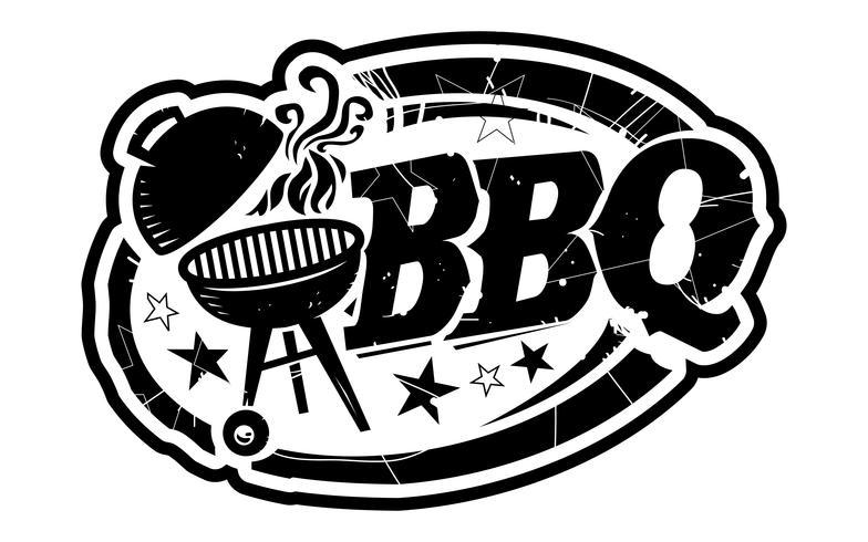 Icono de vector de parrilla BBQ